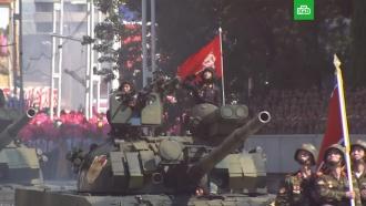 На параде вКНДР впервые за многие годы не показали баллистических ракет