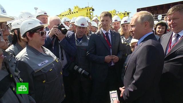 «Такого вообще нет в стране»: Путина впечатлил сухой док судоверфи «Звезда».корабли и суда, Приморье, промышленность, Путин.НТВ.Ru: новости, видео, программы телеканала НТВ