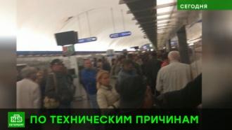 Сломавшийся поезд остановил движение на синей ветке питерского метро