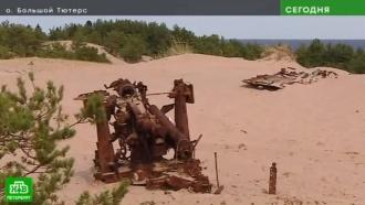 Поисковики обнаружили в песках Большого Тютерса спрятанную немцами зенитную батарею