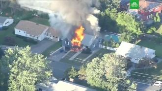 В&nbsp;США <nobr>из-за</nobr> повреждения газопровода пылают десятки жилых домов