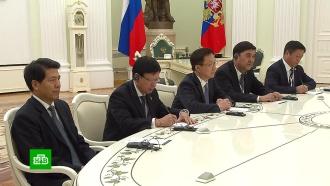 Путин встретился с первым заместителем премьера Госсовета КНР.Китай, Путин, переговоры.НТВ.Ru: новости, видео, программы телеканала НТВ