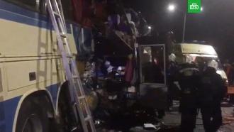 Врезультате столкновения двух автобусов на трассе под Воронежем погибли люди