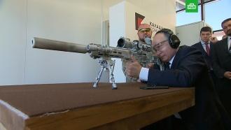 Путин пострелял из снайперской винтовки: видео.Ижмаш/концерн Калашников, оружие, Путин.НТВ.Ru: новости, видео, программы телеканала НТВ