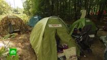 ВБалашихе обманутые дольщики разбили палатки взаброшенном квартале