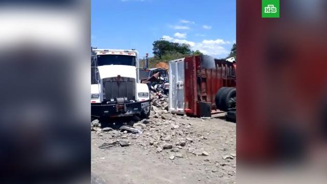 В Колумбии автомобиль врезался в группу пешеходов, собиравших йогурт.ДТП, Колумбия, грузовики.НТВ.Ru: новости, видео, программы телеканала НТВ