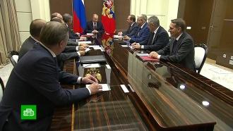 Путин обсудил сСБ РФ безопасность российских военных вСирии иитоги выборов