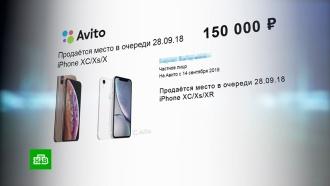 Место вочереди за новым iPhone продают за 250тысяч рублей