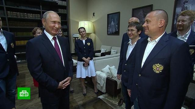 Путин лично пожелал успеха российским шахматным олимпийцам.Путин, шахматы.НТВ.Ru: новости, видео, программы телеканала НТВ