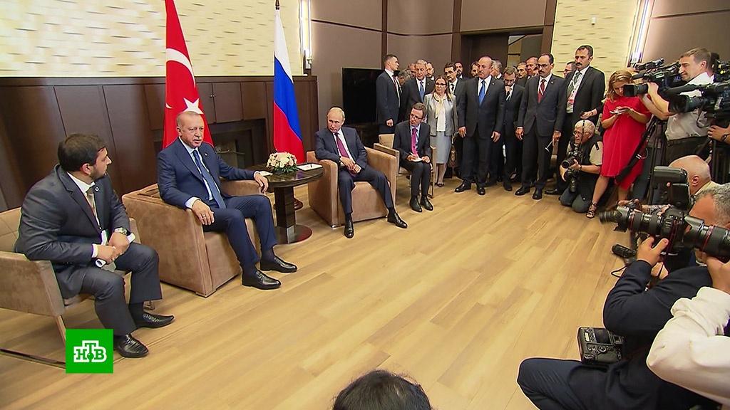 В ООН высоко оценили итоги встречи Путина и Эрдогана.войны и вооруженные конфликты, ООН, Путин, Сирия, Эрдоган.НТВ.Ru: новости, видео, программы телеканала НТВ