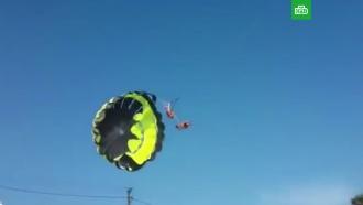 Пара во время полета на парашюте врезалась влинию электросети на Кубани