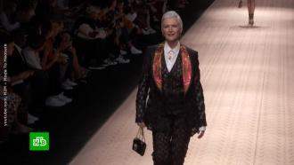 Моника Беллуччи имама Илона Маска вышли на подиум внарядах Dolce & Gabbana