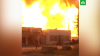 Мощный взрыв на АЗС вЧечне попал на видео