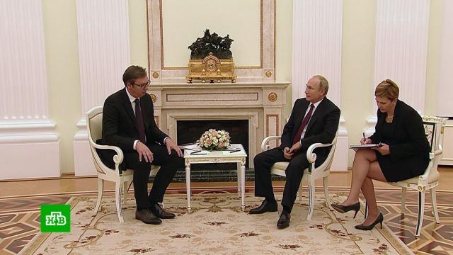 Сербский президент Вучич пригласил Путина в Белград.переговоры, Путин, Сербия.НТВ.Ru: новости, видео, программы телеканала НТВ