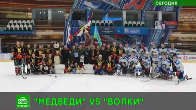 «Медведи» одолели «Волков» на льду в Петербурге.Санкт-Петербург, спорт, хоккей.НТВ.Ru: новости, видео, программы телеканала НТВ