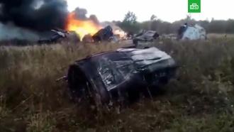 Появилось видео горящего после падения МиГ-29
