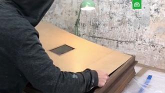 Бэнкси опубликовал видео подготовки куничтожению своей работы на аукционе