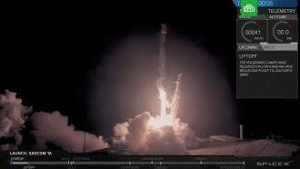 На базу ВВС США вернулась первая ступень ракеты Falcon 9