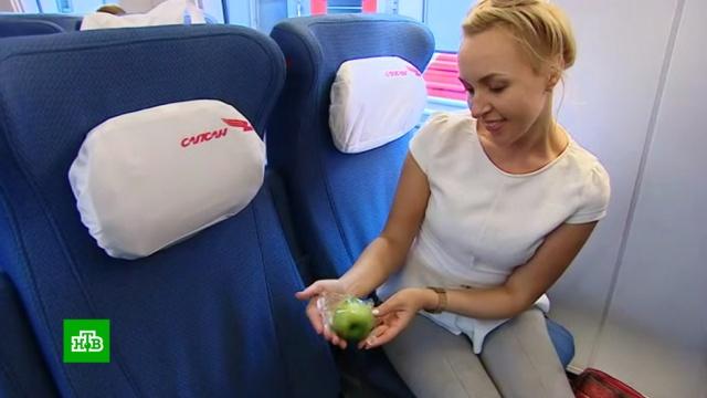 Пассажирам «Сапсанов» дарят зеленые яблоки вчесть юбилея НТВ.НТВ, журналистика, телевидение, торжества и праздники, юбилеи.НТВ.Ru: новости, видео, программы телеканала НТВ