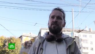 Тверского художника задержали за портрет Солженицына на стене