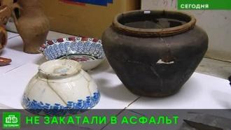 Археологи показали старинные находки со стройплощадки трассы Москва — Петербург