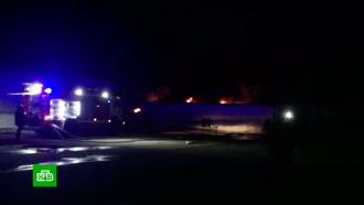 ВКраснодаре горят складские помещения на площади 2500квадратных метров