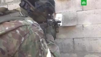 Штурм логова боевиков вДагестане сняли на видео