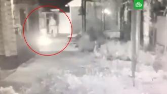 Поджигателя московского храма сняла камера наблюдения
