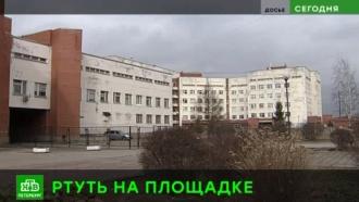 Территория питерской школы оказалась заражена ртутью