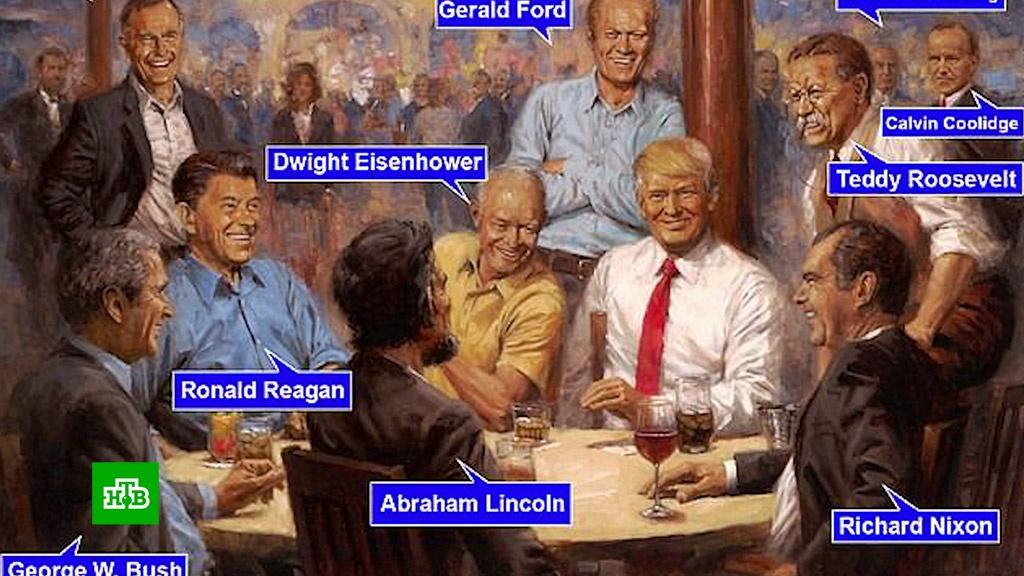 Трамп в своей вселенной: Интернет озадачен «кошмарной» картиной из Белого дома.живопись и художники, Интернет, США, Трамп Дональд.НТВ.Ru: новости, видео, программы телеканала НТВ
