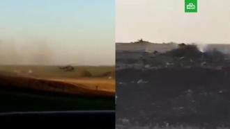 Опубликовано видео с места крушения Су-27 на Украине