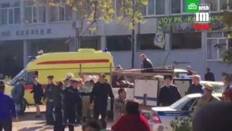 Взрыв вКерчи: первое видео сместа ЧП