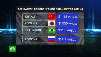Россия сократила вложения в гособлигации США до $14,1 млрд