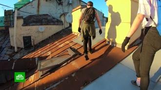 Питерский руфер залез на арку Главного штаба