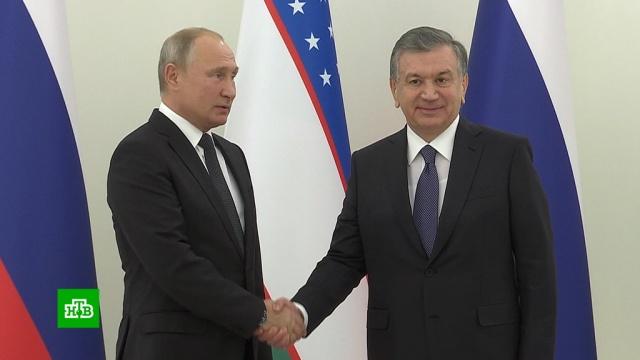 Путин ожидает роста российских инвестиций в экономику Узбекистана.Владимир Путин сегодня прибыл с государственным визитом в Узбекистан и уже провел переговоры со своим коллегой Шавкатом Мирзиёевым.переговоры, Путин, Узбекистан.НТВ.Ru: новости, видео, программы телеканала НТВ