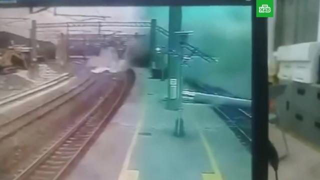 Подборка аварий на жд путях видео