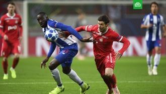 Футболисты «Локомотива» проиграли «Порту» вдомашнем матче Лиги чемпионов