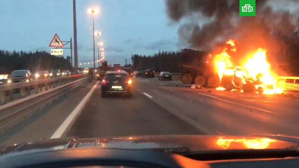 Санкт-Петербург. 8 человек погибли в автомобильной аварии (2018)