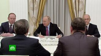 Путин встретился с15уволенными губернаторами