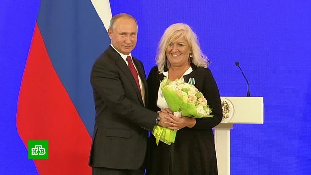 Путин вручил госнаграды иностранцам за укрепление дружбы с Россией.Путин, награды и премии, торжества и праздники.НТВ.Ru: новости, видео, программы телеканала НТВ