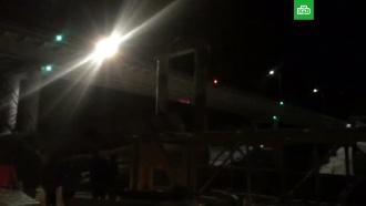 Обрушение моста в ХМАО: видео с места