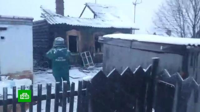 При пожаре вКузбассе выжила только мать многодетной семьи.Кемеровская область, МЧС, дети и подростки, пожары.НТВ.Ru: новости, видео, программы телеканала НТВ
