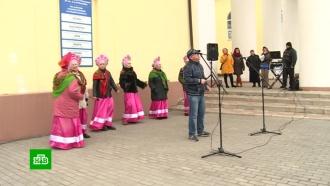 Танцы, музыка, угощения: вДНР иЛНР выборы превратились впраздник