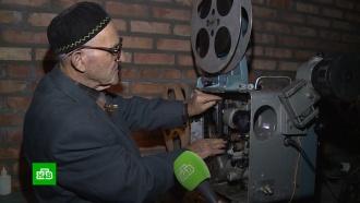 Пенсионер устраивает в чеченском селе бесплатные кинопоказы