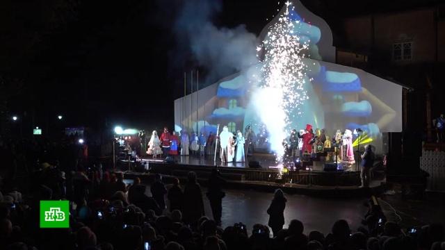 Дед Мороз отметил день рождения ис ведущими НТВ прибыл вОмск.НТВ.Ru: новости, видео, программы телеканала НТВ