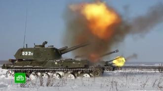 Огневой шторм: видео боевых артиллерийских стрельб в горах