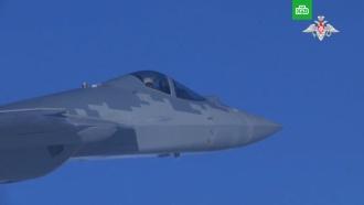 Полет новейших Су-57 в небе над Сирией: видео.Опубликованы кадры испытаний истребителя пятого поколения Су-57 в Сирии.авиация, армия и флот РФ, Сирия.НТВ.Ru: новости, видео, программы телеканала НТВ
