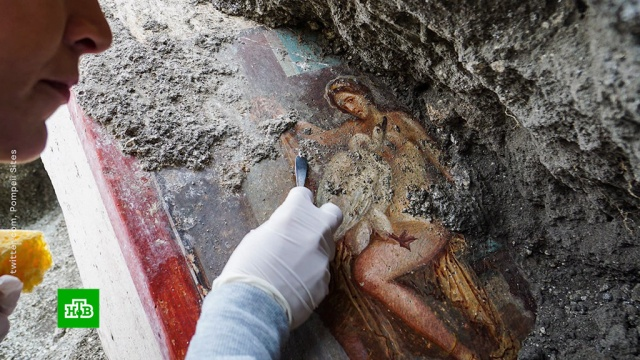 На руинах Помпеи обнаружили эротическую фреску.археология, история.НТВ.Ru: новости, видео, программы телеканала НТВ