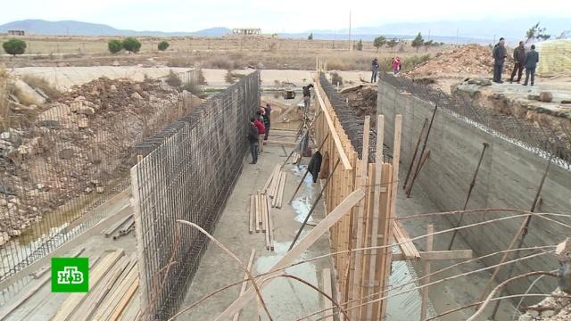 На юго-западе Сирии восстанавливают стратегический мост.мосты, Сирия, строительство.НТВ.Ru: новости, видео, программы телеканала НТВ