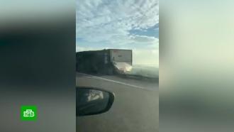 Ураган в Новороссийске сбивал с ног людей и переворачивал машины